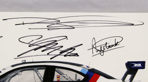 Autographed Print - BMW E92 M3 GT  - Winner of the 2011 Twelve Hours of Sebring Race