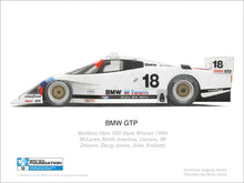 Load image into Gallery viewer, Print - BMW GTP 1986 Watkins Glen Print