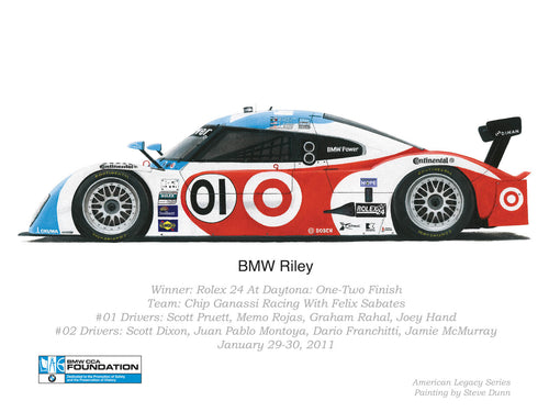 Print - BMW Riley - Winner of the 2011 Rolex 24 At Daytona Race