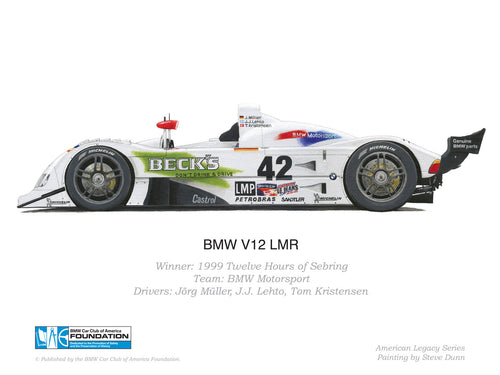 Print - BMW V12 LMR - 1999 Twelve Hours of Sebring Winning Car
