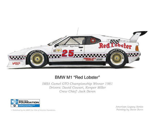 Print - BMW M1 Red Lobster 1981