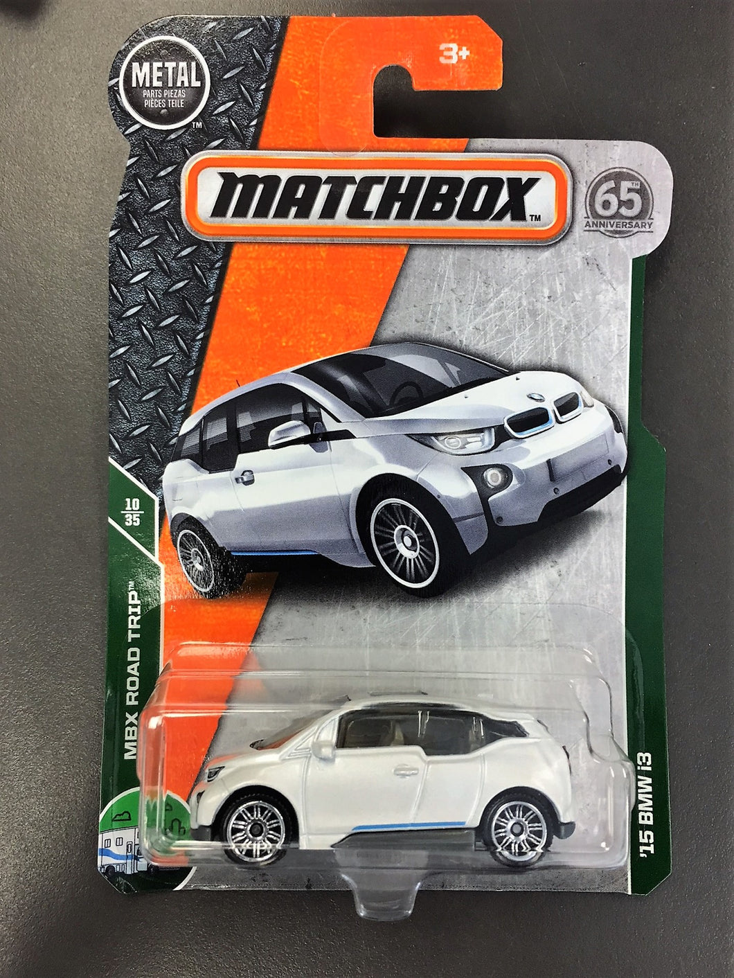 Matchbox Mattel 2018 MBX Road Trip - '15 BMW i3 (White)