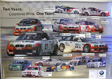 Load image into Gallery viewer, Autographed Poster - Ten Years. Countless Wins. One Team. BMW PTG 10th Anniversary Racing