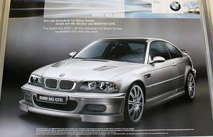Poster The Bmw M3 Gtr Off The American Le Mans Series Racetracks And Onto The Road Street Version In Silver E46