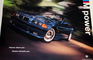 Poster - M Power Heaven above you. Heaven beneath you. E36 M3 Convertible