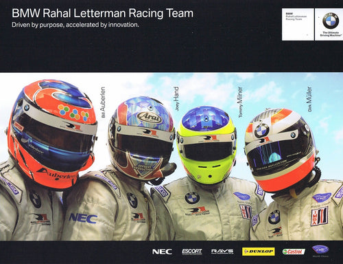 Signature Card - 2009 BMW Rahal Letterman Racing Team