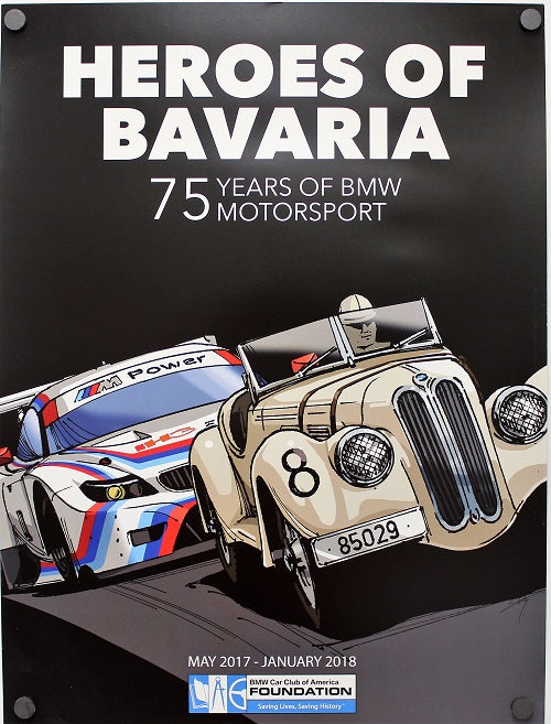 Poster - Heroes of Bavaria:  75 Years of Motorsport History