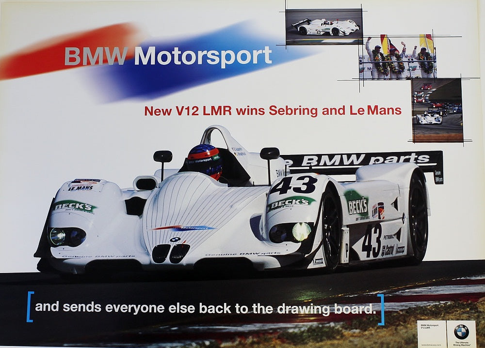 Poster - BMW Motorsport. New V12 LMR wins Sebring and LeMans