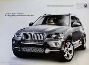 Poster - Hang onto your heated, 20-way powered Napa leather seat. BMW E70 X5 4.8i