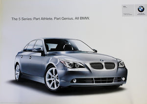 Poster - The 5 Series: Part Athlete. Part Genius. All BMW. E60 5 Series Poster