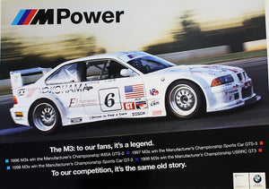Poster - M Power. The M3: To our fans, it's a legend