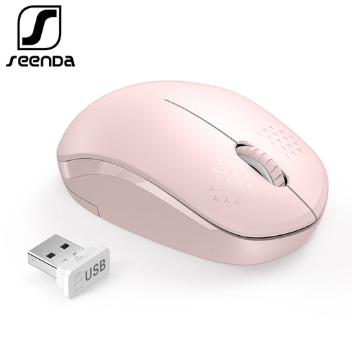 797e7921eb7 SeenDa Noiseless Mouse Wireless 2.4G Silent Buttons Ergonomic Mute Mice for  Computer Laptop Mouse for