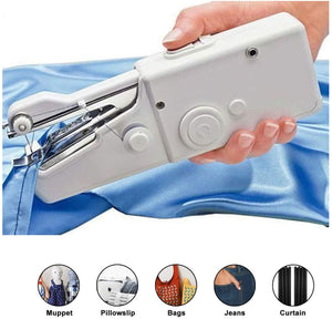 Portable Sewing Machine, Mini Handheld Sewing Machine Cordless Electric Stitch Household Tool for Fabric, Clothing, Kids Cloth, Home Travel Use