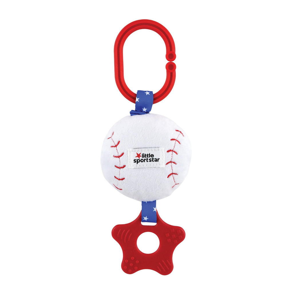 Little Sport Star® Baseball Zippee with Vibrating Pull & Teether