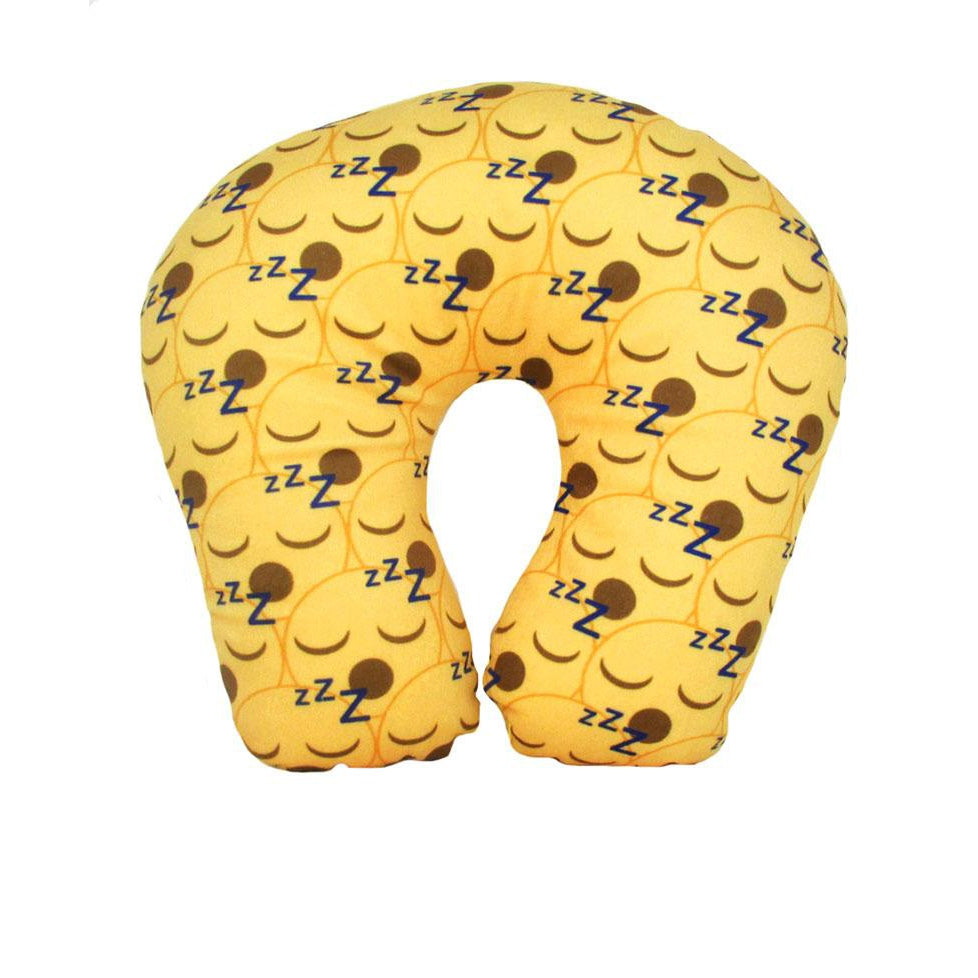 I Luv Emoji Sleepy Face 2-in-1 Reversible Neck Pillow