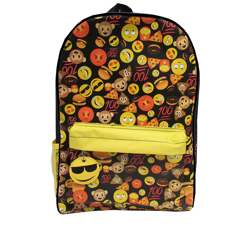 I Luv Emoji Black Backpack