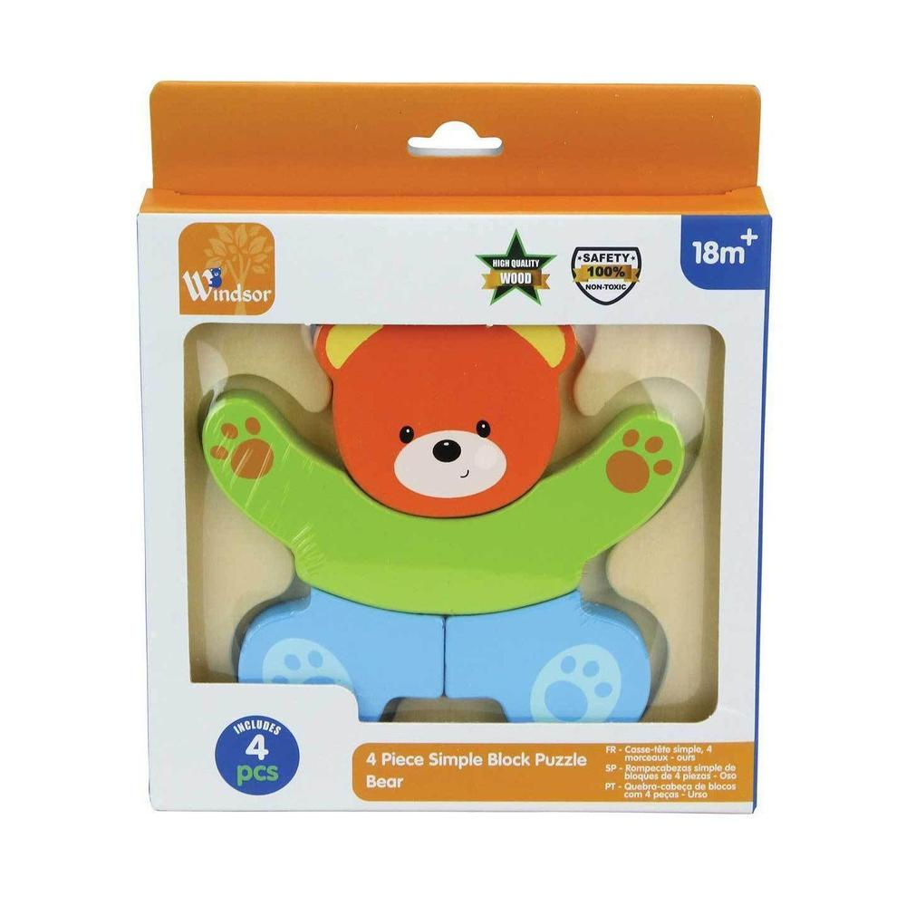 Windsor™ Wooden Bear Simple Jigsaw Puzzle from Kids Preferred 081787370388 37038