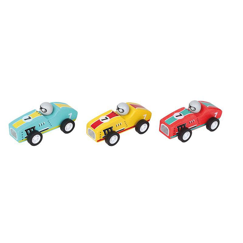 Windsor™ Pull-Back Racer Race Cars - set of 3