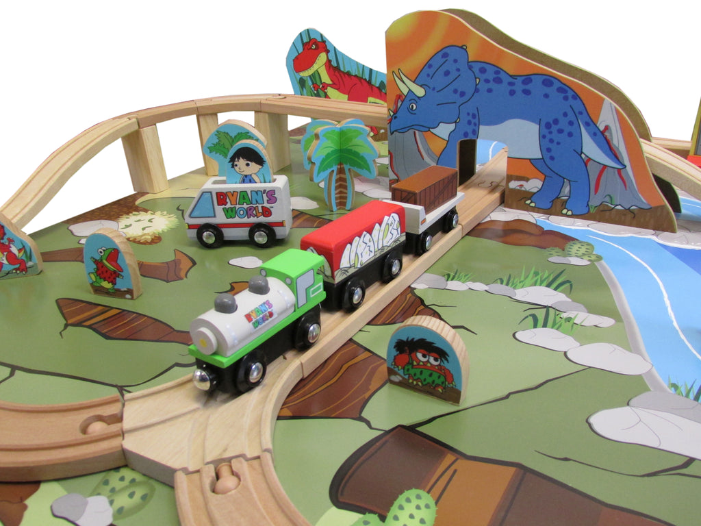 Ryan's World - Ryan's 45 piece Prehistoric Train Set