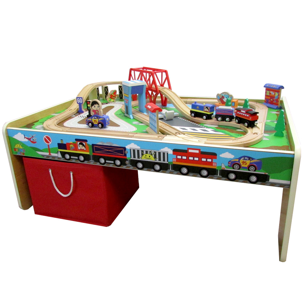 Ryan's 50 piece Planes, Trains & Racing Table