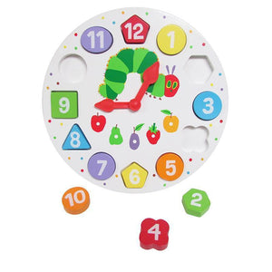The World of Eric Carle™ The Very Hungry Caterpillar™ Wooden Magnetic Clock & Shape Sorter from Kids Preferred 081787965881 96588