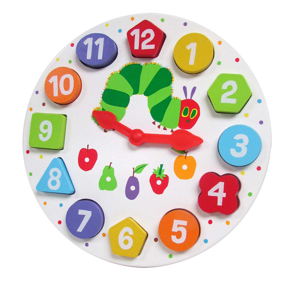 The World of Eric Carle™ The Very Hungry Caterpillar™ Wooden Magnetic Clock & Shape Sorter