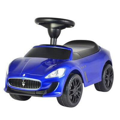 Licensed to Ride-On Blue Maserati Grand Cabrio with Sound