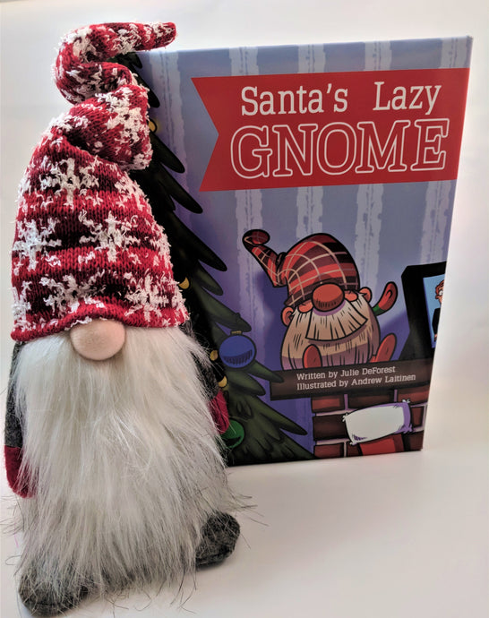 PaperBack! The lazy alternative to the Elf: Book & Plush Snowflake Gnome