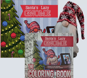 Bundle | Snowflake or Argyle Gnome, Soft Cover Story & Coloring Books