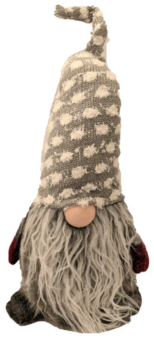 Light Grey Polka Dot Gnome | 20 Inches Tall
