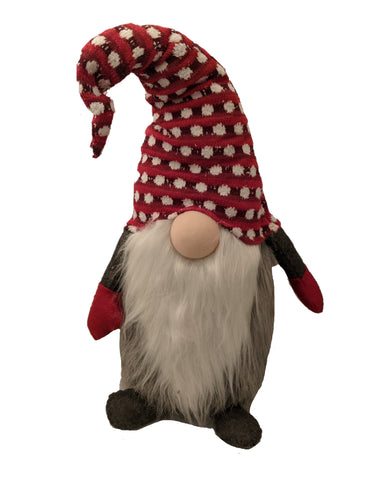 Large Red Polka Dot Gnome | 32 Inches Tall