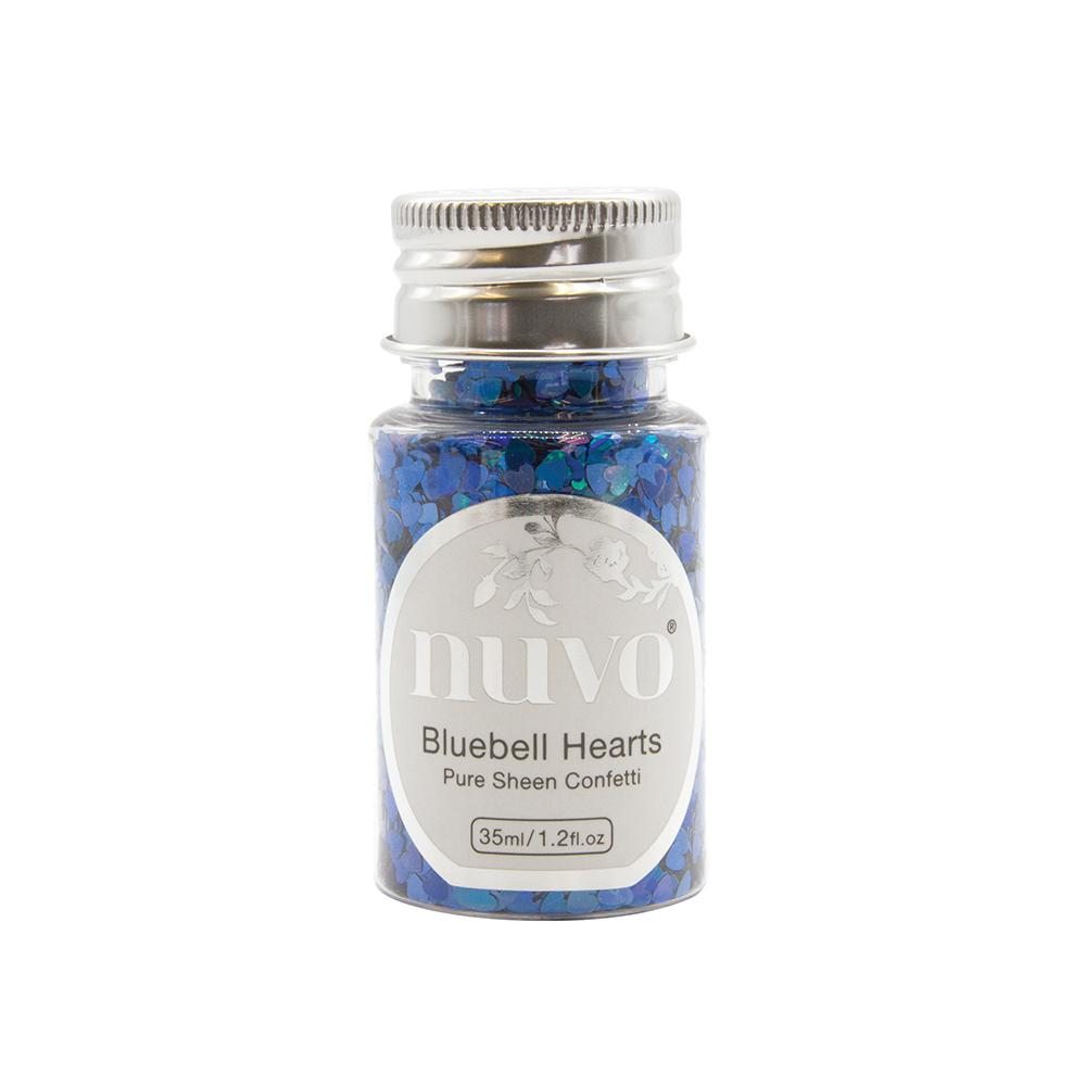 Nuvo Confetti Nuvo - Confetti - Bluebell Hearts - 35ml Bottle - 1070n