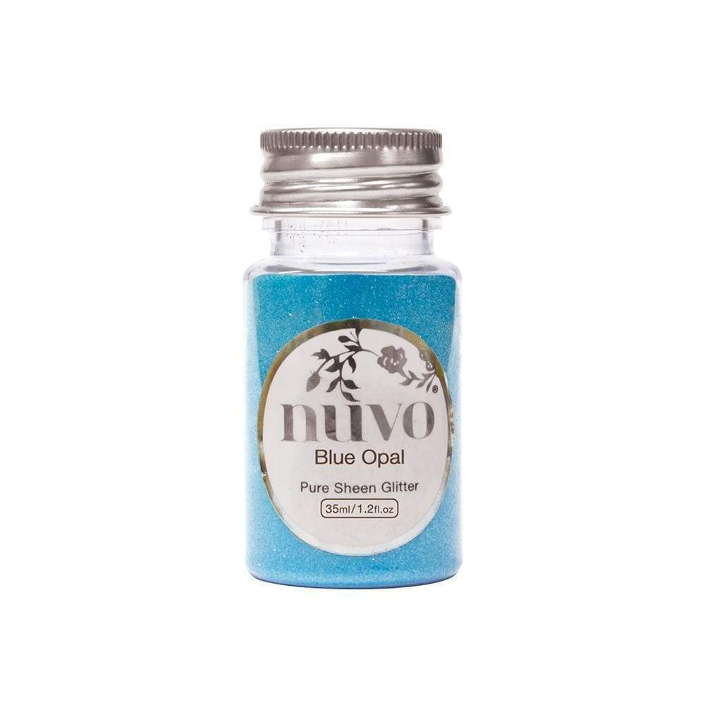 Nuvo Nuvo Glitter Nuvo - Pure Sheen Glitter - Blue Opal - 35ml Bottle - 1106n