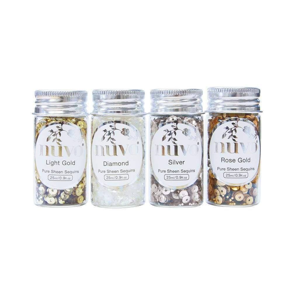 Nuvo Sequins Nuvo - Pure Sheen 4 Pack - Golden Years Sequins - 280n