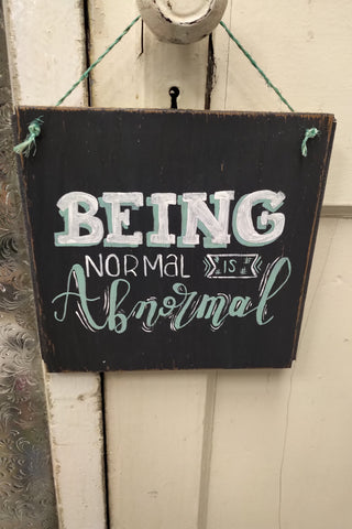 Being Normal Is Abnormal