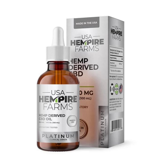 Broad Spectrum Hemp Oil - 3000MG | Platinum | Clinical Strength