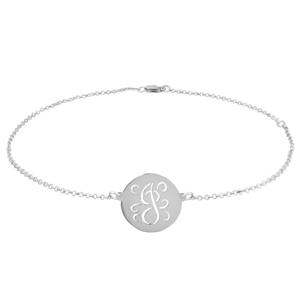 Fancy Script Cut Out Initial Anklet