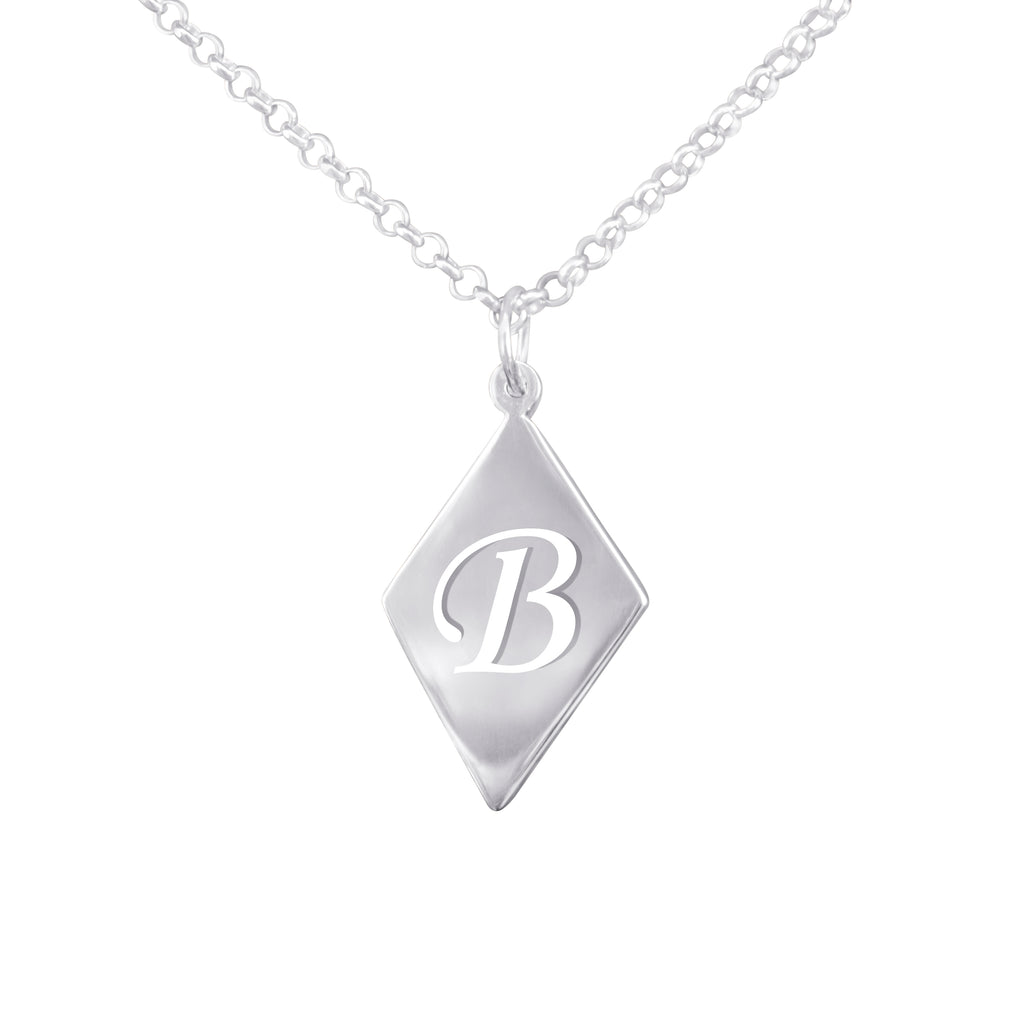 Diamond Shaped Cut Out Initial