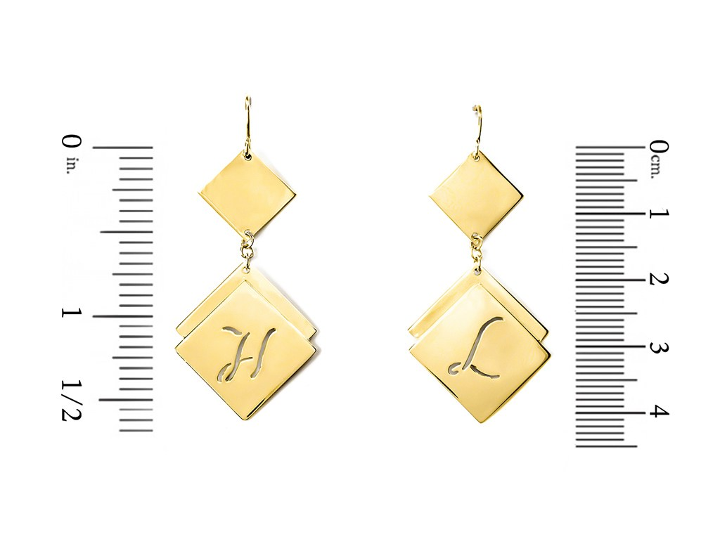 personalized 14K gold plated sterling silver earrings