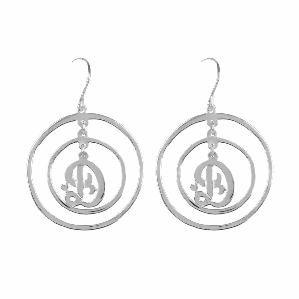 sterling silver personalized initial earrings