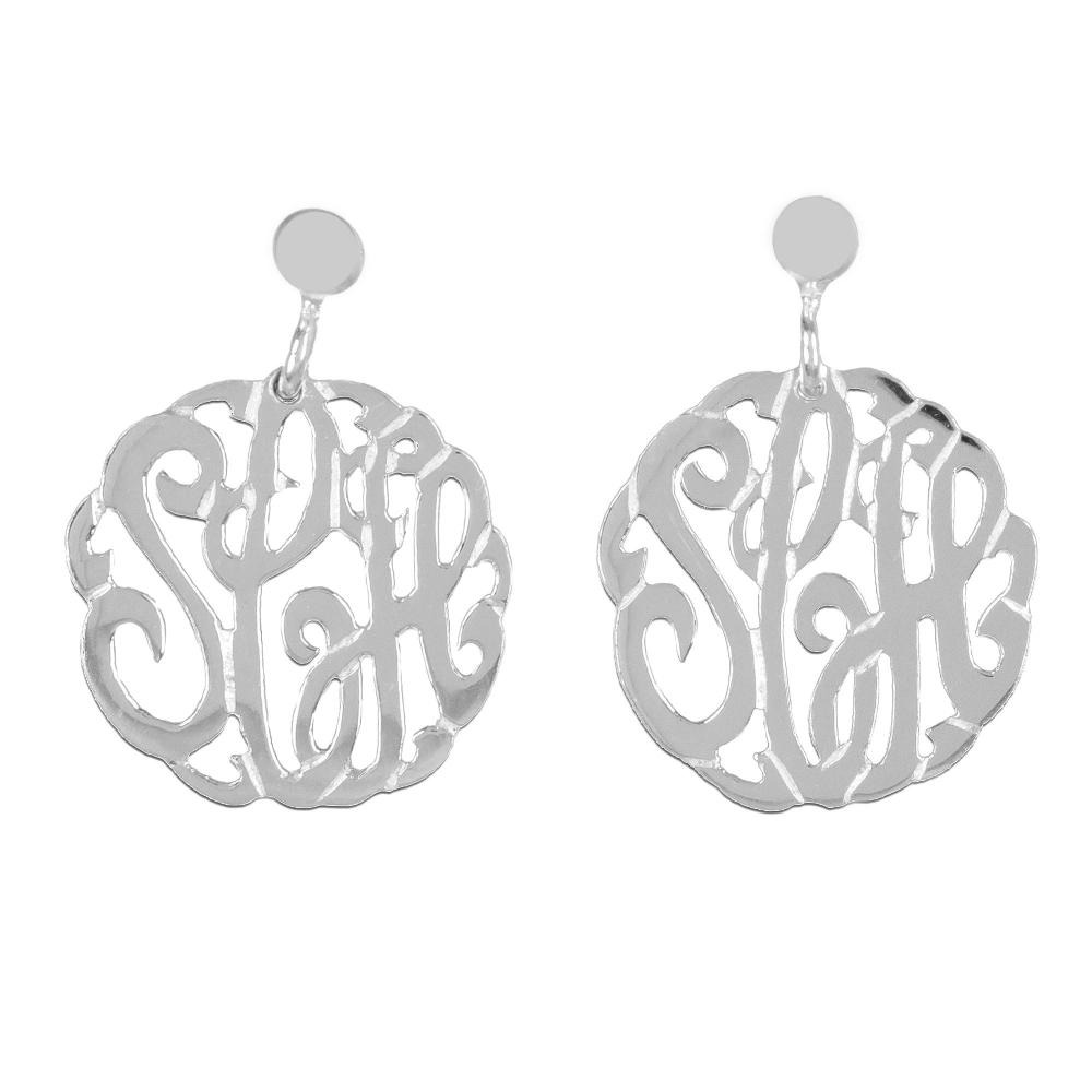 sterling-silver-round-crafted-monogram-earrings
