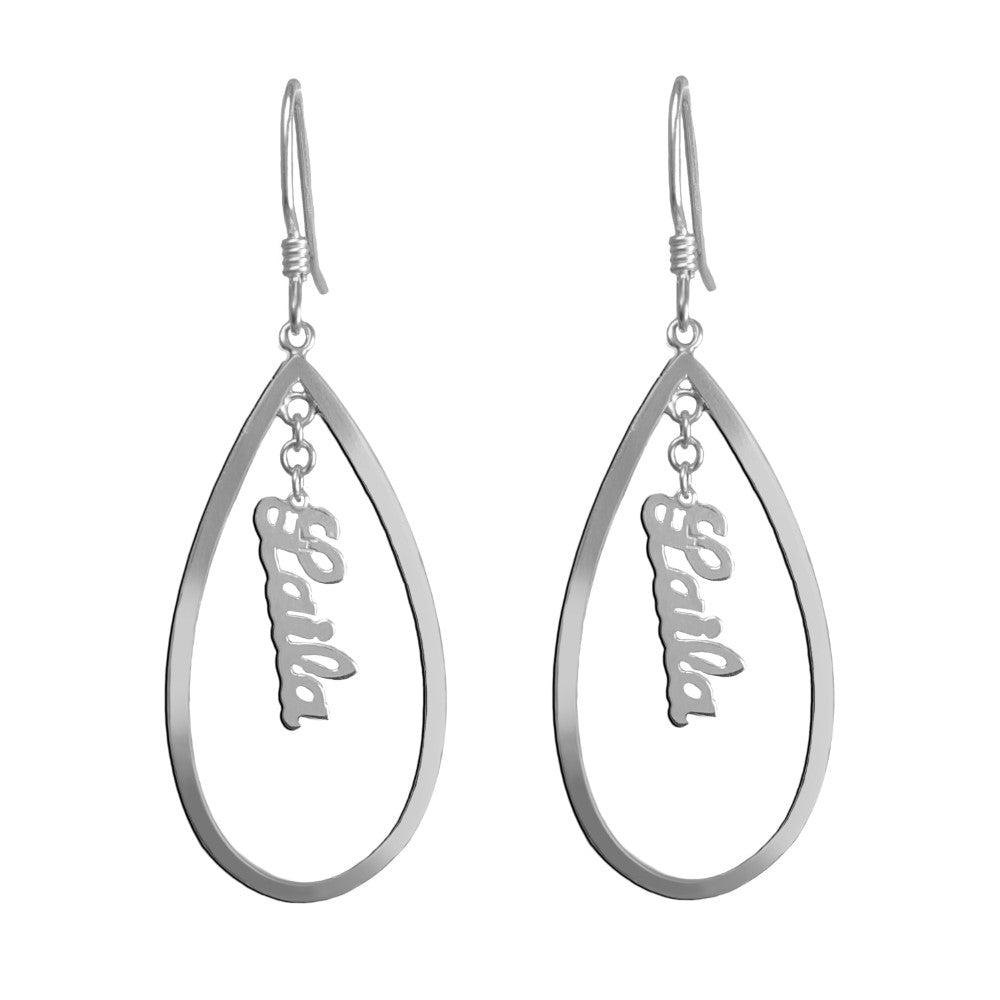 sterling silver personalized name earrings