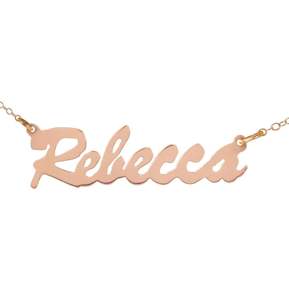 14K rose_gold plated sterling silver-stunning-nameplate-necklace