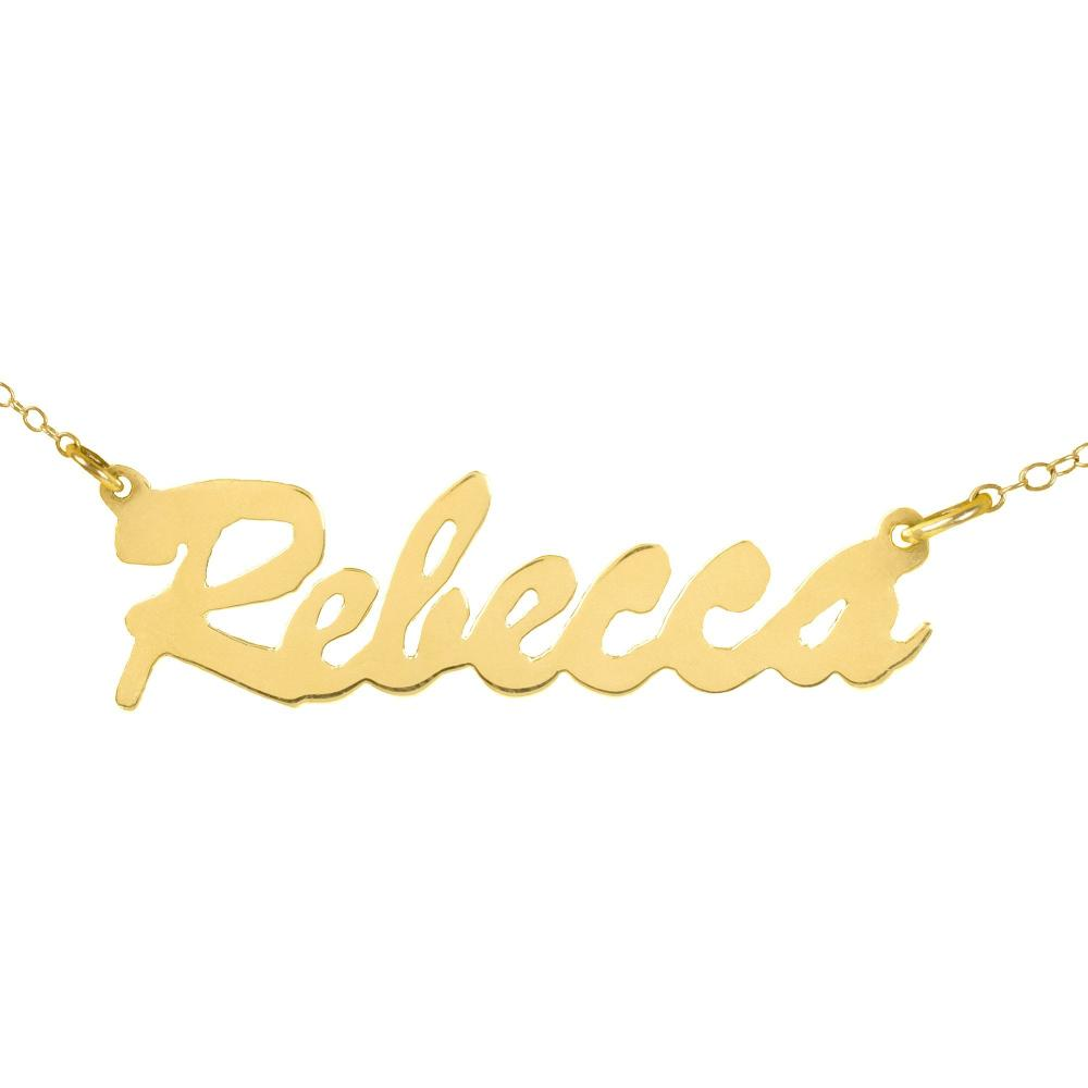 14K gold plated sterling silver-stunning-nameplate-necklace
