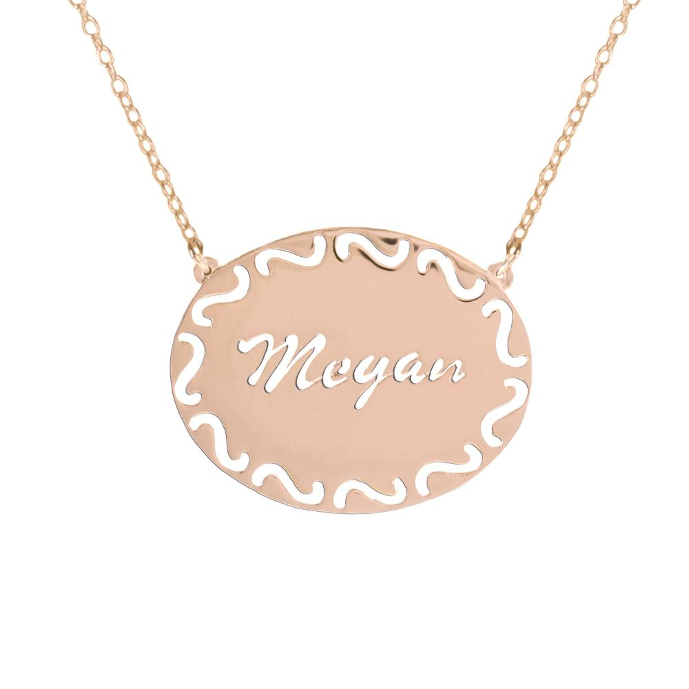 24k rose_gold plated sterling silver-filigree-frame-name-necklace