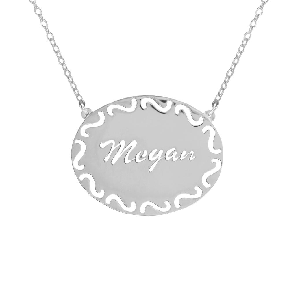sterling silver frame-name-necklace