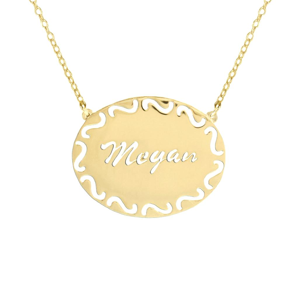 24k gold plated sterling silver-filigree-frame-name-necklace