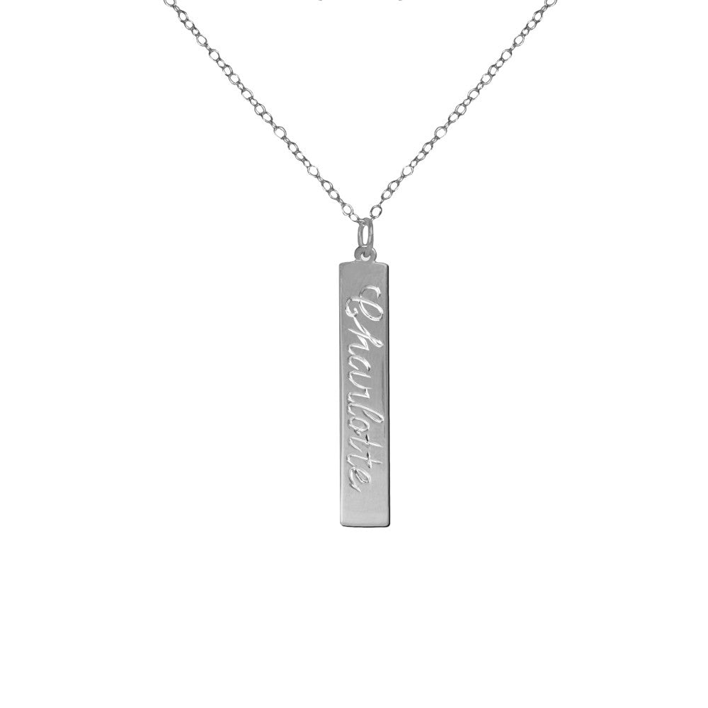 Classic Bar Name Necklace