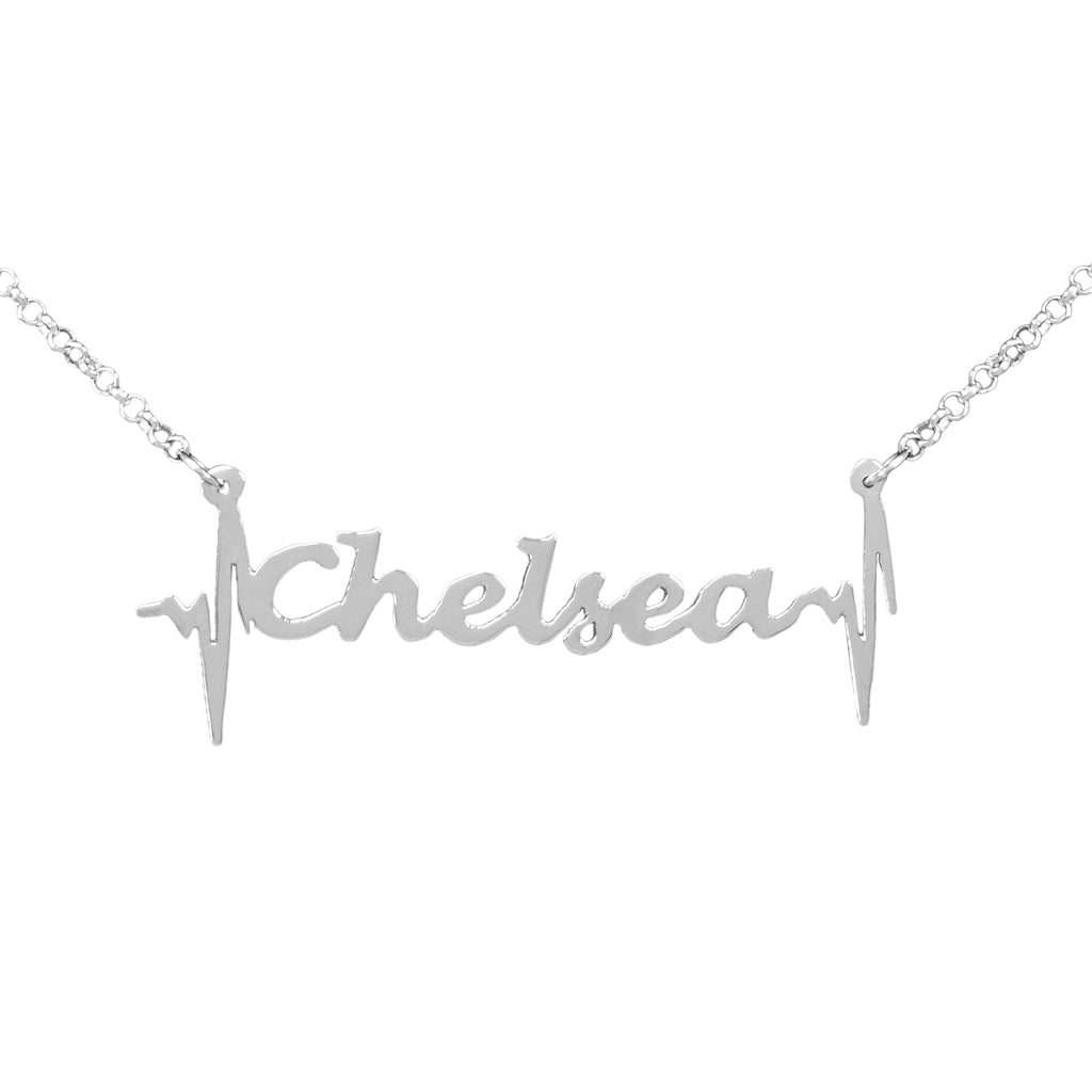 Heartbeat Name Necklace