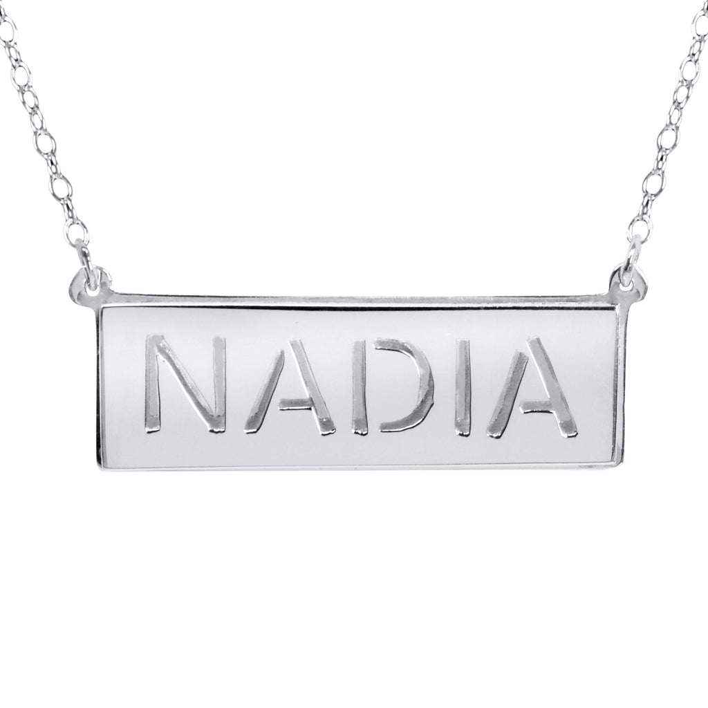 Double 3-D Name Necklace